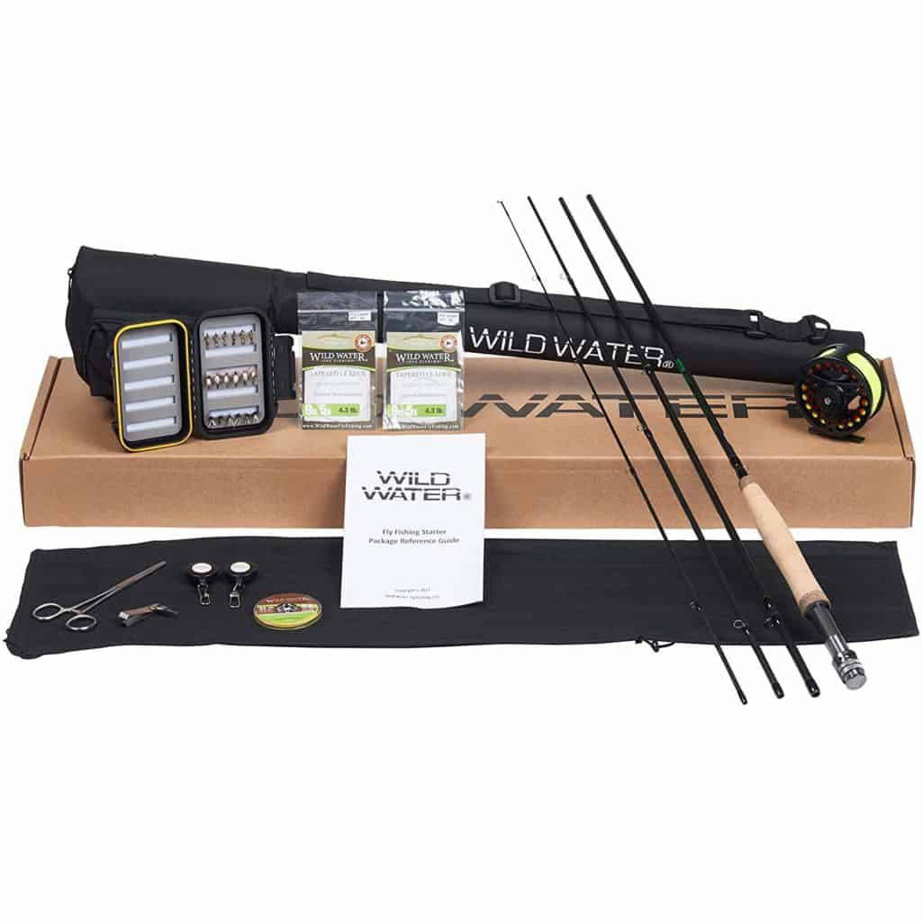 Wild Water Fly Fishing Deluxe  Reel and  Rod Combo